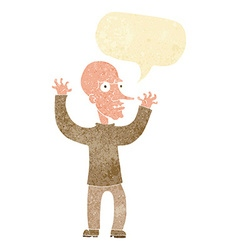 Cartoon mean man with speech bubble vector