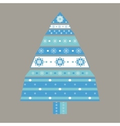 Christmas tree card background vector image