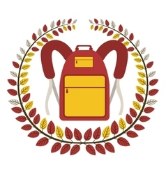 Crown of leaves with school briefcase vector