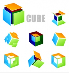 cube elements vector image vector image