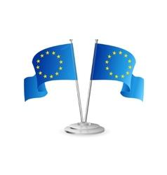 European union table flag isolated vector