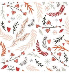 Hand drawn seamless background pattern Winter vector image vector image