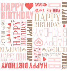 happy birthday alphabet headline seamless vector image vector image