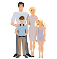 Happy family full length vector