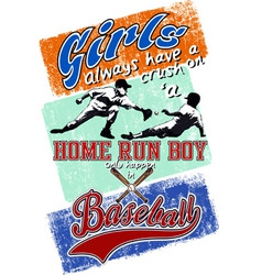 home run boy vector image vector image
