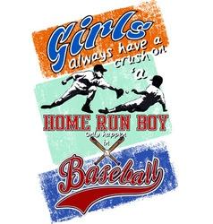 Home run boy vector