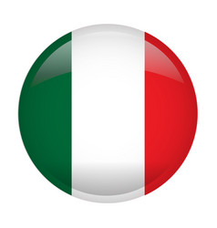 isolated flag of italy vector image