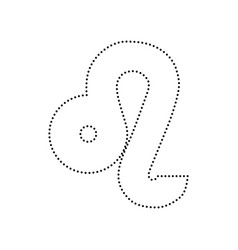 Leo sign black dotted icon vector