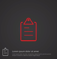List outline symbol red on dark background logo vector