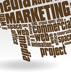 Marketing text vector image