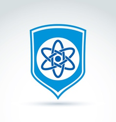 Science defending conceptual symbol icon with vector