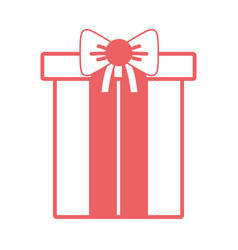 silhouette nice present gift to merry christmas vector image
