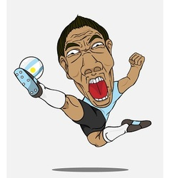 soccer player Argentina vector image vector image