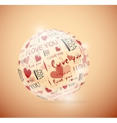 Sphere of love vector image