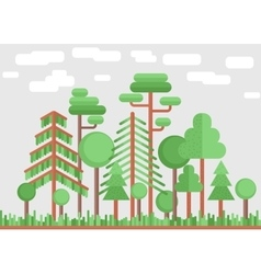 Summer tree forest flat vector