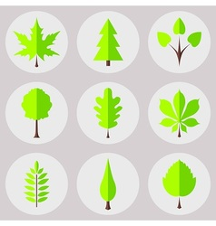The set of nature icons vector image vector image