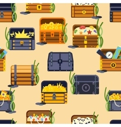 Treasure chest seamless patetrn vector image vector image