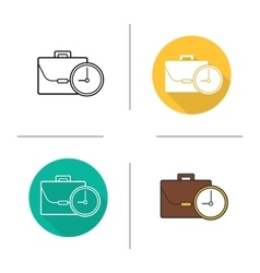 Work time icons vector