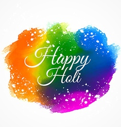Indian happy holi festival colorful ink paint vector