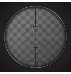 Realistic sniper sight on transparent background vector