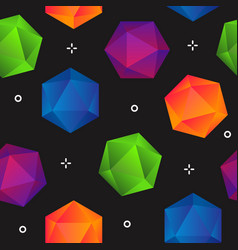 Colorful gradient geometric diamonds seamless vector