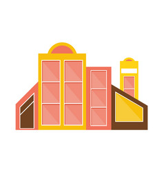 Pink yellow and brown shopping mall modern vector