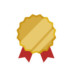 Emblem badge ribbon vector
