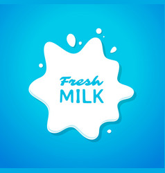 Fresh milk splash vector