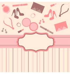 Fashion card background vector