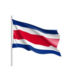 waving flag of costa rica vector image