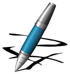 blue pen vector image