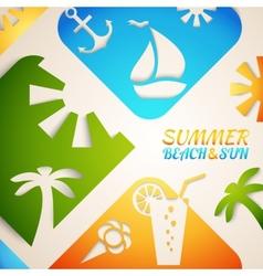 Abstract summer  bright beach vector