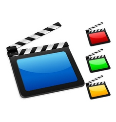 3d digital film slate vector image