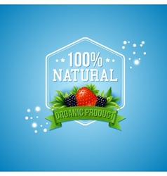 Hundred percent natural organic product vector