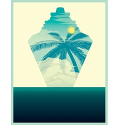 Cruise poster vector