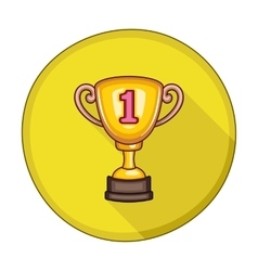 Winner Cup flat icon vector image