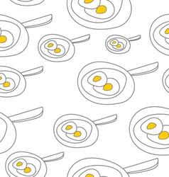 Pattern eggs vector image