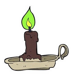 Comic cartoon spooky candlestick vector