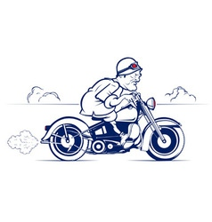 Cartoon biker ride vector
