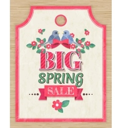 Spring sale tag vector