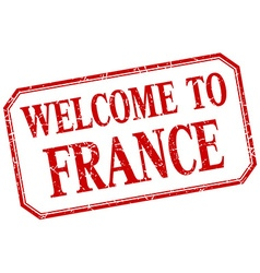 France - welcome red vintage isolated label vector image