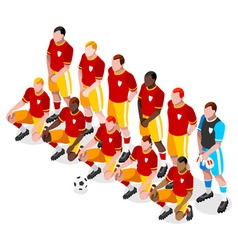 Soccer team 2016 sports 3d isometric vector