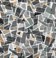 Abstract dirty line textures seamless pattern vector image vector image