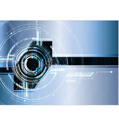 abstract technological futuristic interface vector image