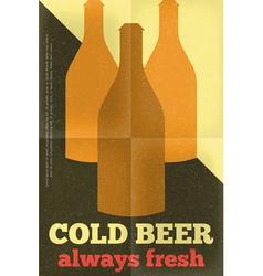 Beer poster bottles vector