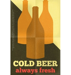 beer poster bottles vector image