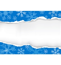 Blue Ripped christmas paper vector image