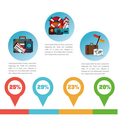 Brochure travel promotion infographic vector