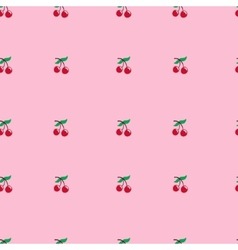 cherry seamless pattern Food background vector image