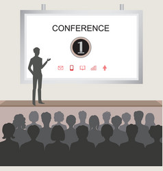 conference room people at the conference hall vector image vector image